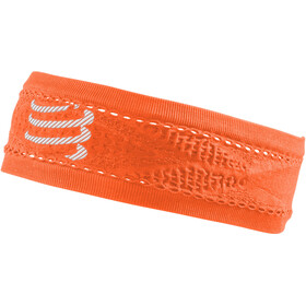 Compressport Thin On/Off banda para la cabeza, fluo orange
